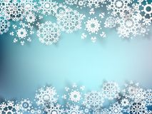 Christmas postcard with paper snowflakes. EPS 10 Royalty Free Stock Image
