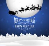 Christmas postcard with Santa Stock Photo