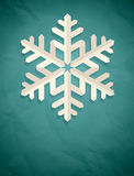 Christmas postcard with snowflake. Royalty Free Stock Images
