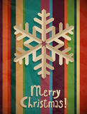 Christmas postcard with snowflake Royalty Free Stock Photography