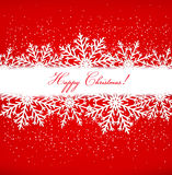 Christmas postcard with snowflakes. Royalty Free Stock Photo