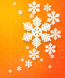 Christmas postcard with snowflakes. Royalty Free Stock Images