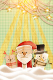 Christmas postcard. Stylized abstract paper cutout Royalty Free Stock Photography