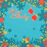 Christmas postcard with text Royalty Free Stock Photography