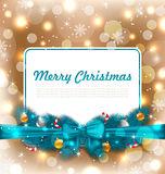 Christmas Postcard with Traditional Decoration Royalty Free Stock Photos