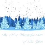 Christmas postcard vector illustration