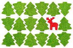 Free Christmas Postcard With Red Deer Among Fir-trees Royalty Free Stock Photo - 27387795