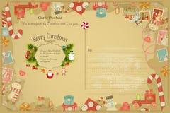 Christmas  Postcard Stock Photos