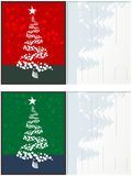 Christmas postcards set. In colors with room for text royalty free illustration