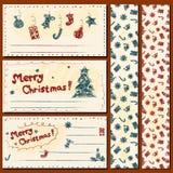 Christmas postcards set Stock Photography