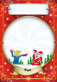Christmas poster Royalty Free Stock Image