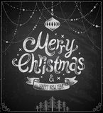 Christmas poster - Chalkboard style. Royalty Free Stock Image