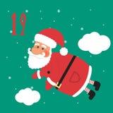Christmas poster. Colorful Christmas Advent Calendar. Countdown to Christmas- 19.  Stock Photos