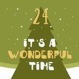 Christmas poster. Colorful Christmas Advent Calendar. Countdown to Christmas- 24.  Stock Photos