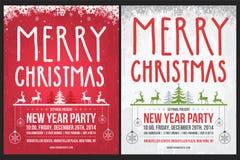 Christmas Poster Stock Photos