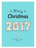 Christmas poster 2017 Stock Photos