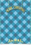 Christmas poster in kilt with inscription Stock Photo