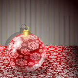 Christmas POSTER with a red ball Royalty Free Stock Image