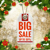 Christmas Poster Sale. Typography. EPS 10. Vector file included royalty free illustration