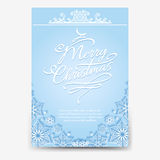 Christmas poster with snowflake divider Royalty Free Stock Images