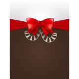 Christmas poster. Christmas vector element  with ribbon Stock Image