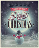 Christmas Poster. Royalty Free Stock Photos