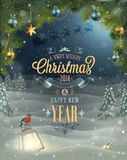 Christmas Poster. royalty free illustration
