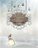 Christmas Poster. Vector illustration Royalty Free Illustration