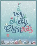 Christmas Poster. Vector illustration. Stock Images