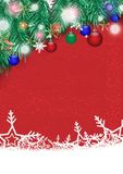 Christmas poster with white snowflake on red background vector illustration