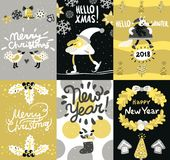 Christmas Posters And Banners Set Royalty Free Stock Photos