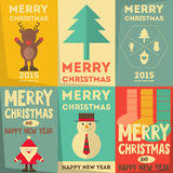 Christmas Posters Set Stock Image