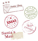 Christmas postmarks - vector Royalty Free Stock Images