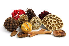 Christmas pot pourri decoration Royalty Free Stock Images