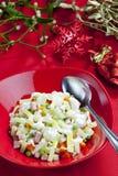 Christmas potato salad Royalty Free Stock Photo