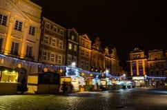 Christmas in Poznań. Old Market Square in Poznań, Poland Stock Images