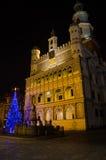 Christmas in Poznań. Old Market Square in Poznań, Poland Royalty Free Stock Image