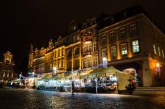 Christmas in Poznań. Old Market Square in Poznań, Poland Royalty Free Stock Photos