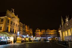 Christmas in Poznań. Old Market Square in Poznań, Poland Stock Photos