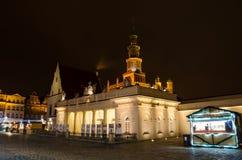 Christmas in Poznań. Old Market Square in Poznań, Poland Stock Image