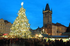 Christmas in Prague Royalty Free Stock Images