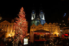 Christmas Prague Stock Image