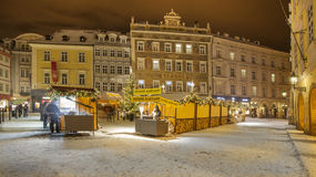 Christmas Prague in night Royalty Free Stock Photography