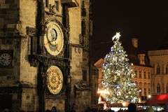 Christmas in Prague, Old Town Square Royalty Free Stock Image