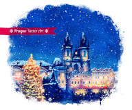 Christmas Prague Stock Photo