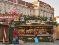 Christmas preparation in Dresden Royalty Free Stock Images