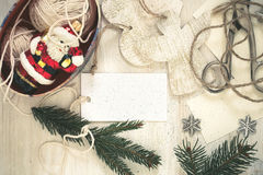 Christmas preparation handmade (craft) Christmas decorations Stock Photo