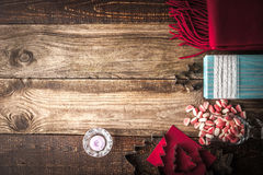 Christmas preparation set  on the wooden table Stock Photo