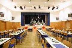 christmas prepared theatre στοκ εικόνα με δικαίωμα ελεύθερης χρήσης