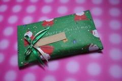 Christmas present. Christmas wrapping present Stock Image